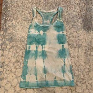 Lululemon blue tie dye tank!